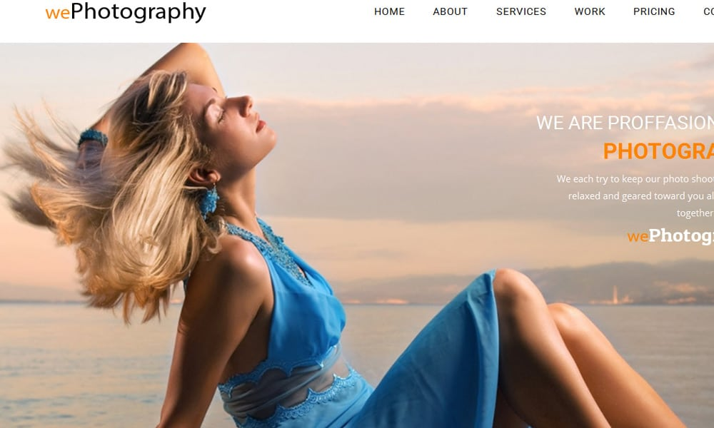 WePhotography – Bootstrap HTML Portfolio Template