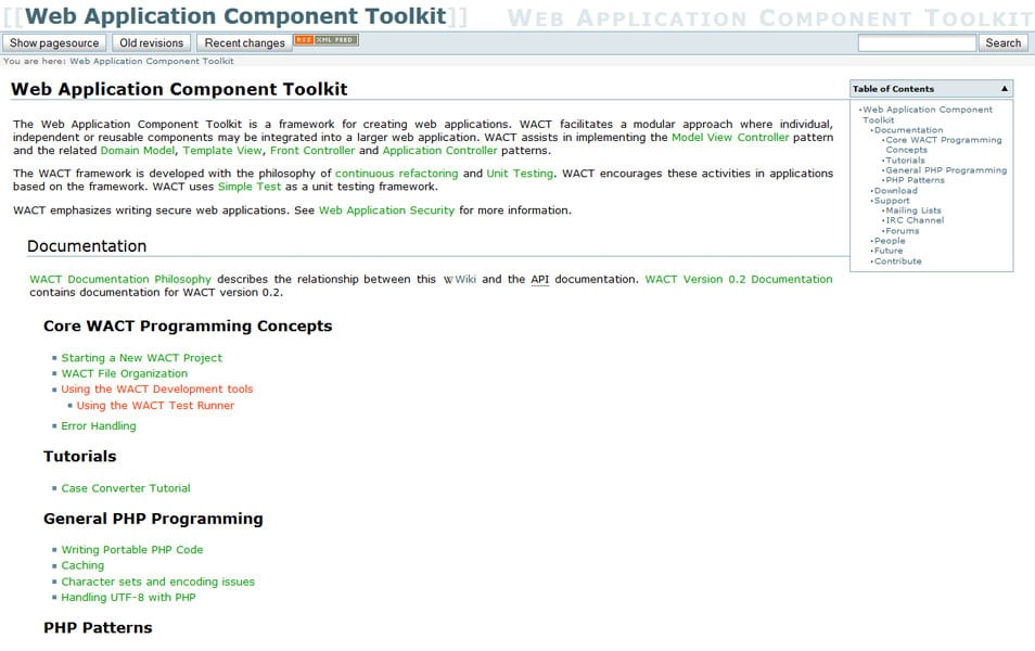 Web Application Component Toolkit
