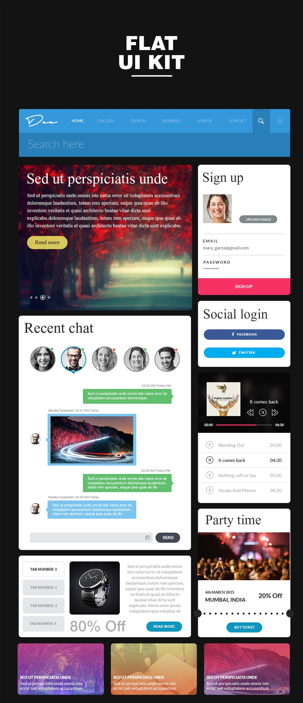 Web UI PSD