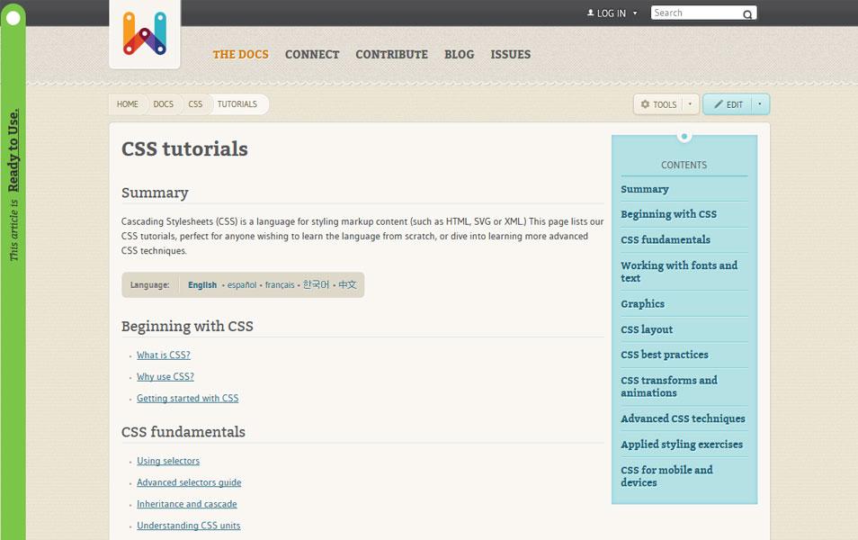 CSS tutorials | WebPlatform
