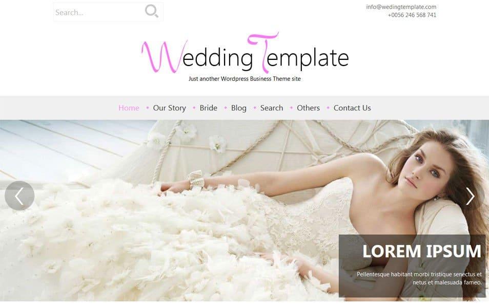 Wedding Style Responsive WordPress Wedding Theme