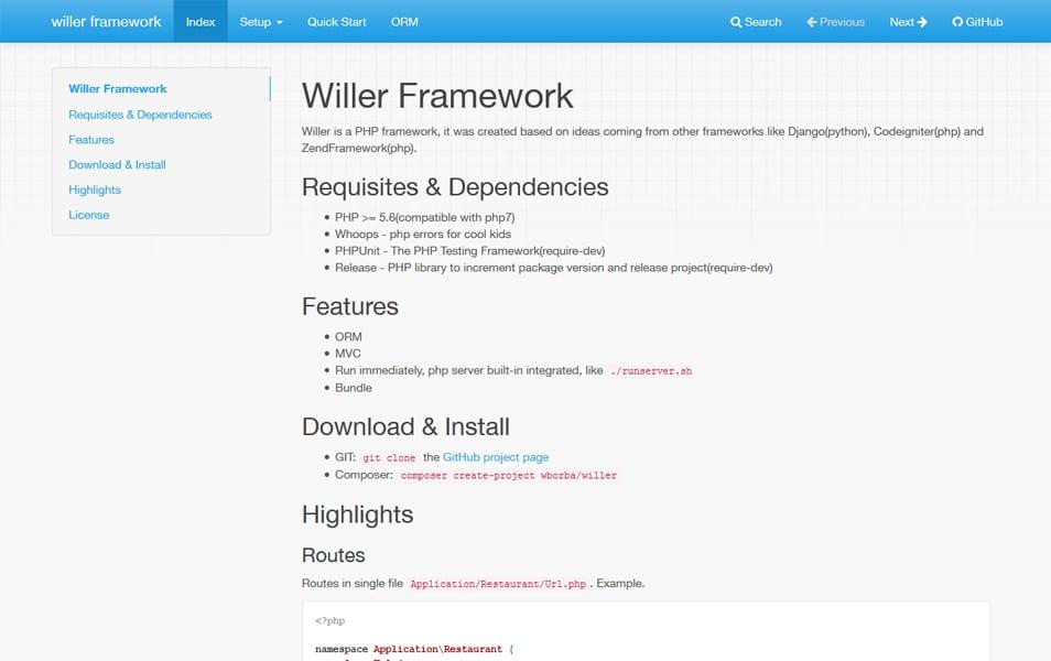 Willer Framework