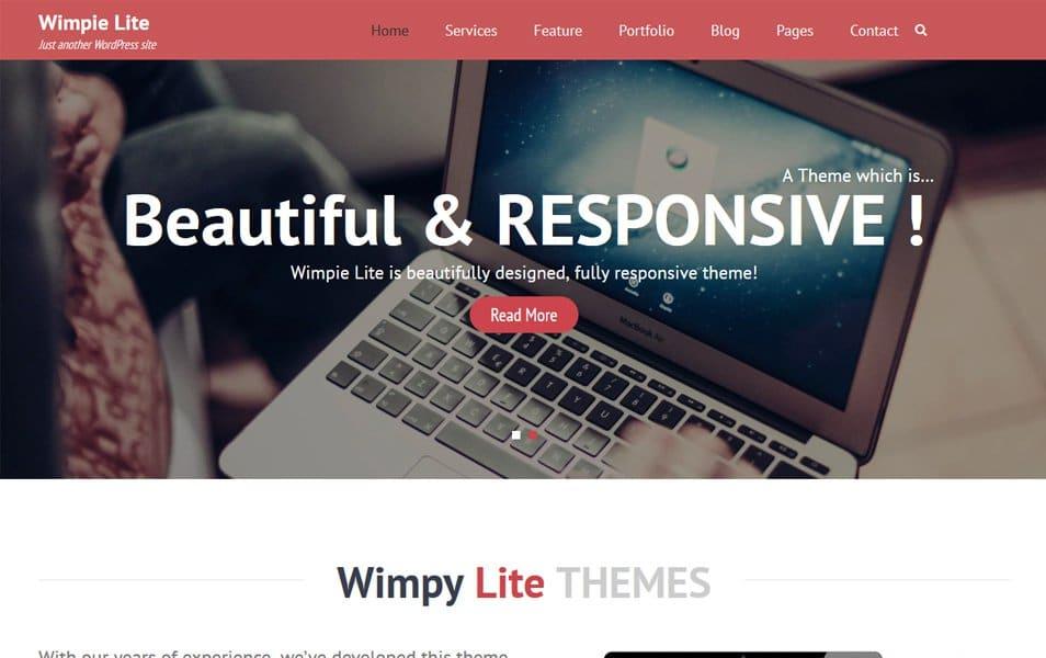 Wimpie Lite Responsive WordPress Theme