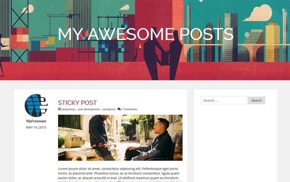 WpF Authority Responsive WordPress Theme
