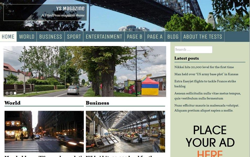 YS Magazine Responsive WordPress Theme