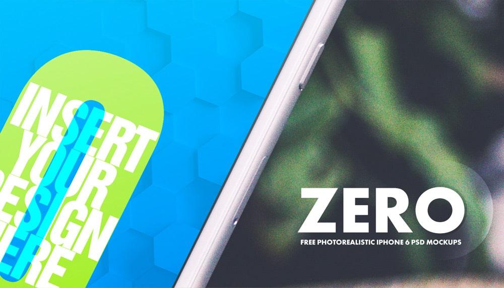 Zero – Free iPhone 6 Mockup PSD