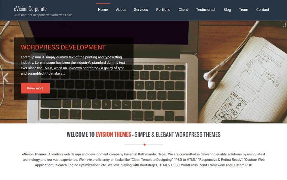 eVision Corporate Responsive WordPress Theme