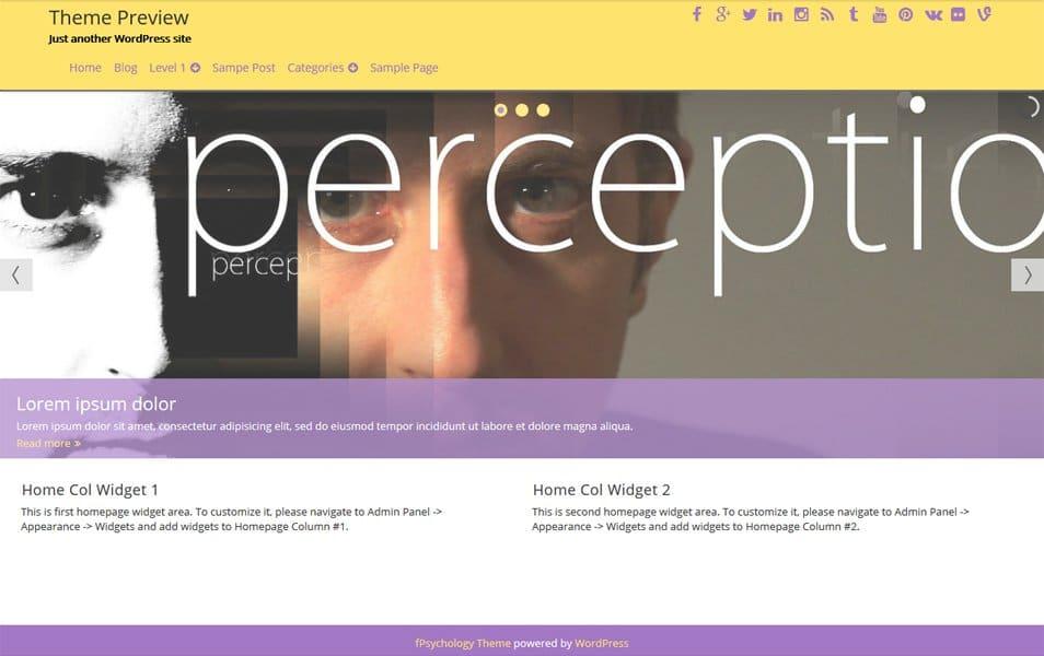 fPsychology Responsive Psychology WordPress Theme