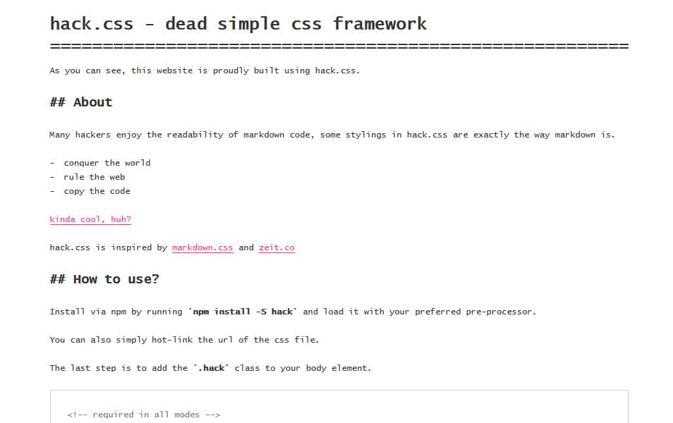hack.css