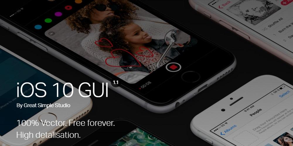 iOS 10 GUI