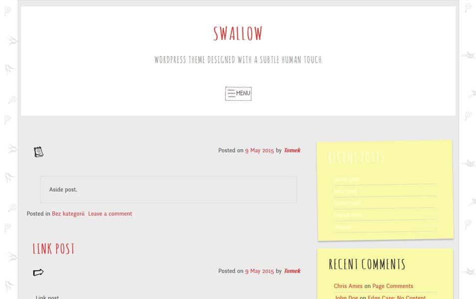 swallow Responsive WordPress Theme