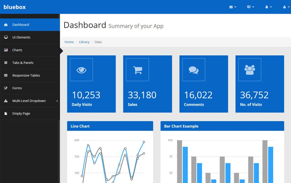 100 best free bootstrap admin templates css author bluebox free bootstrap admin template pronofoot35fo Gallery