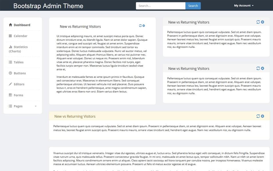 Bootstrap Admin Theme 3