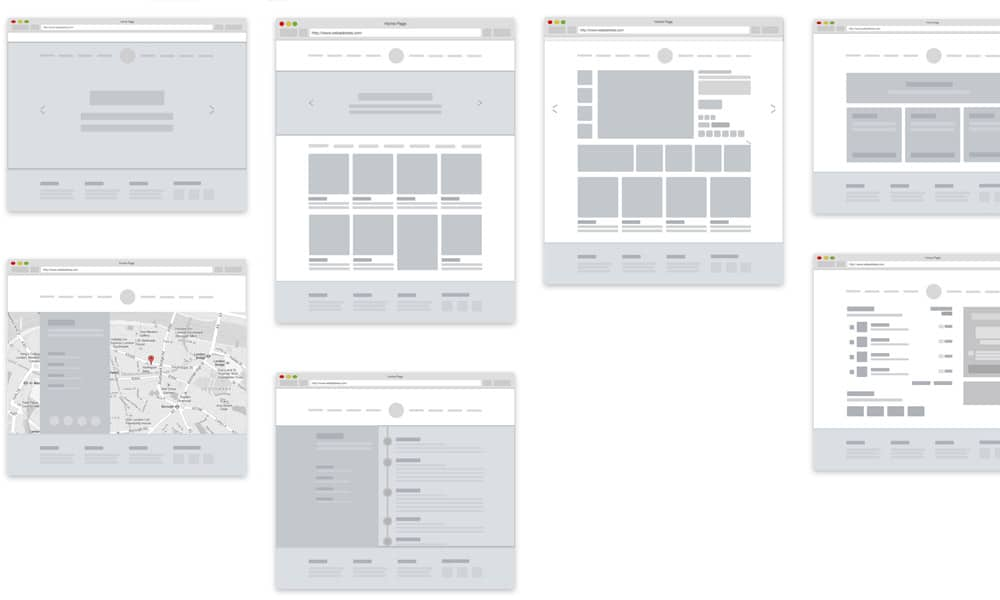 E commerce website Wireframe