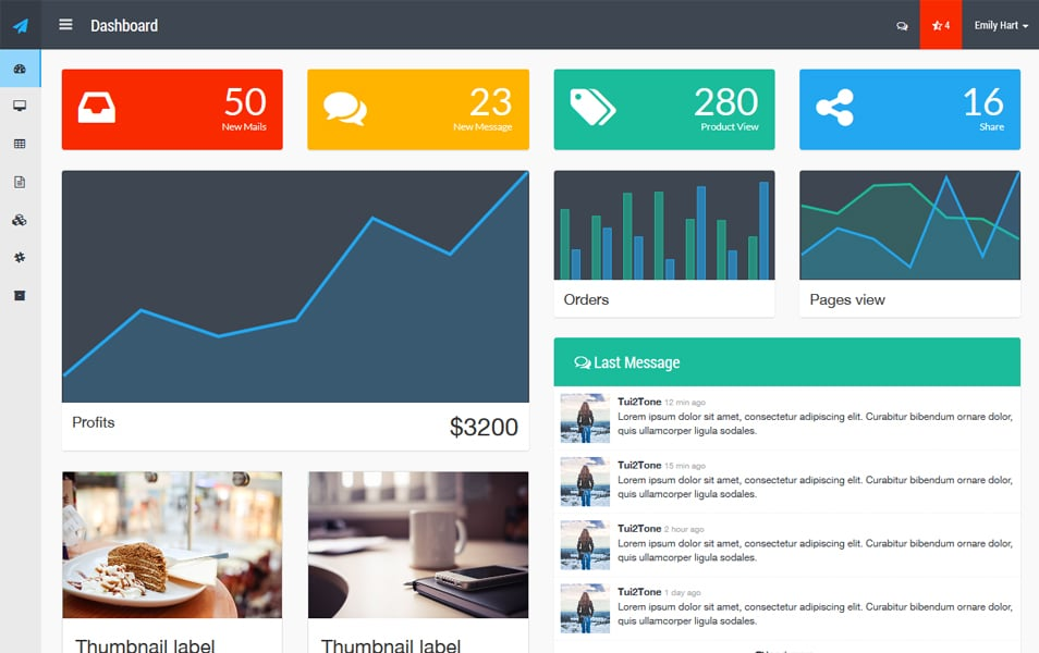 100 best free bootstrap admin templates css author for How to use bootstrap templates
