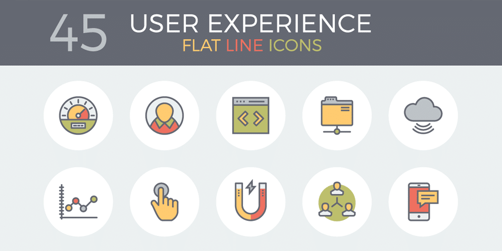 Flat and Line E Commerce Icons