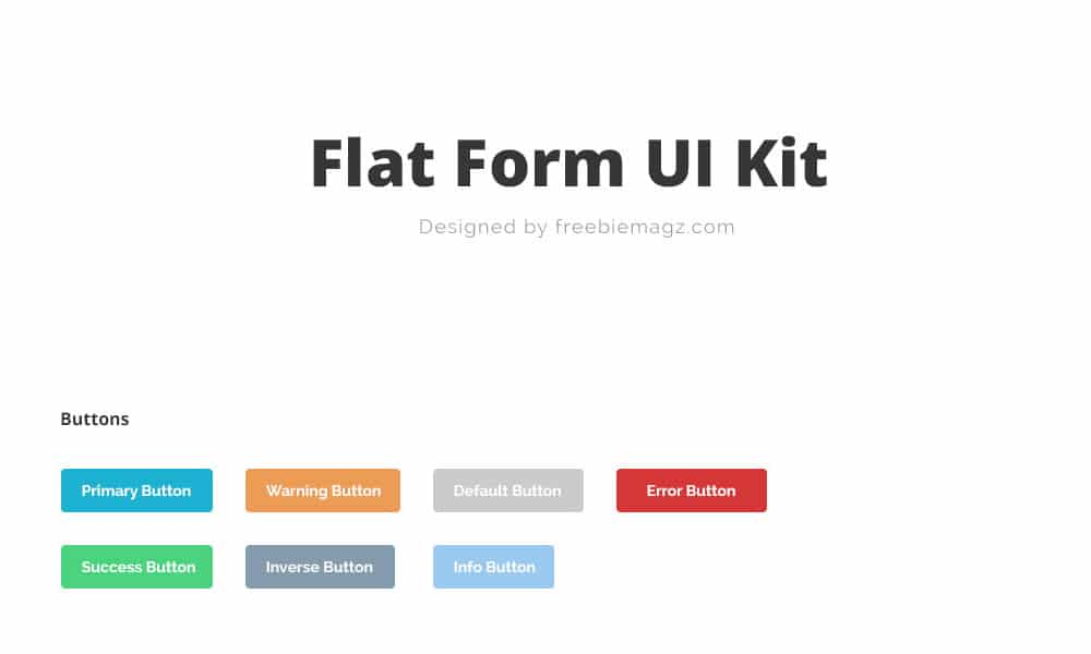 Form Elements UI Kit PSD