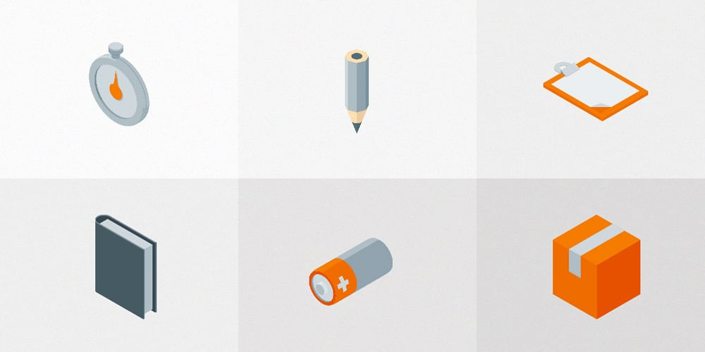 Free Isometric Material Icons