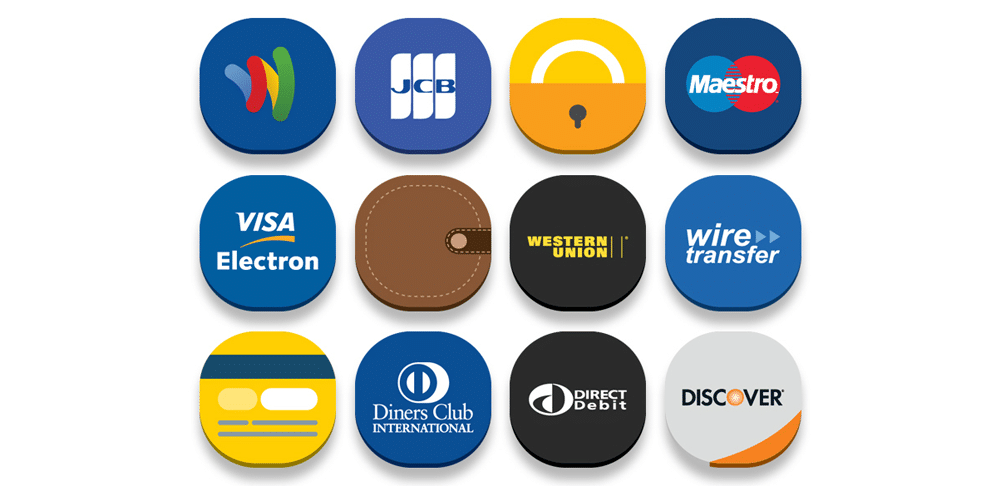 Free Online Banks and E-Commerce Icons