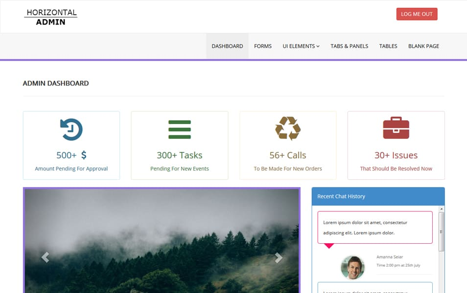 100 best free bootstrap admin templates css author free responsive horizontal admin template pronofoot35fo Images