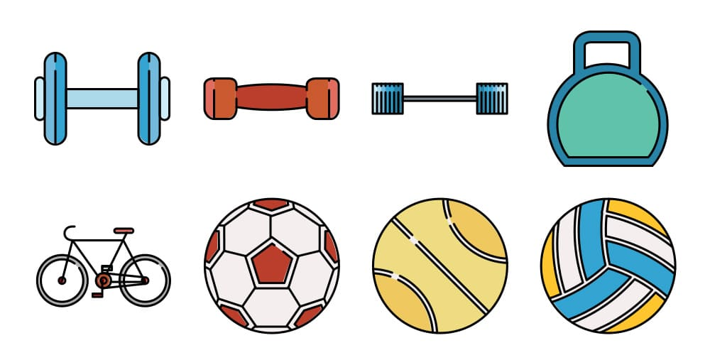 Free Responsive Sports Icons