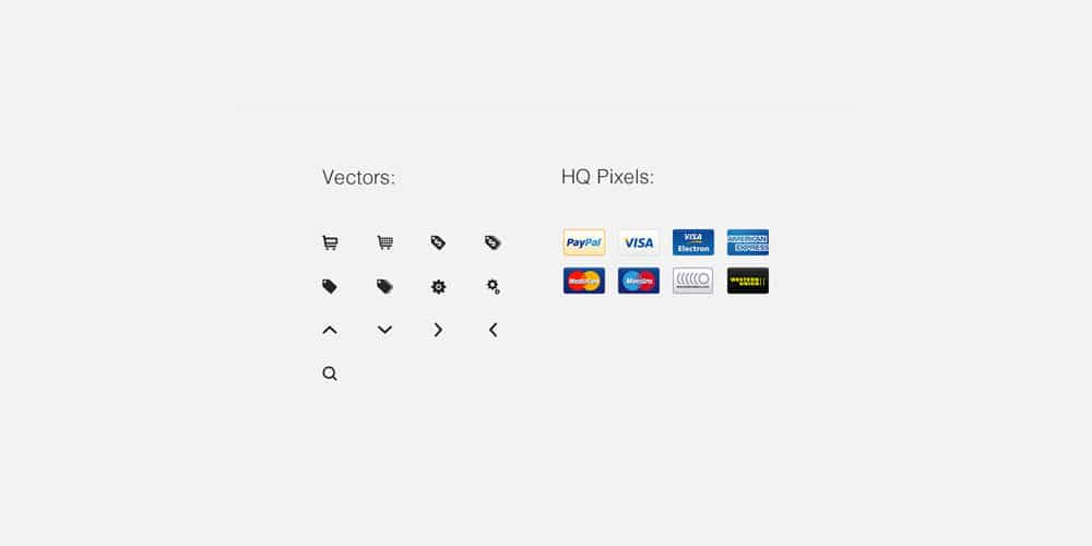 Free eCommerce Icons PSD