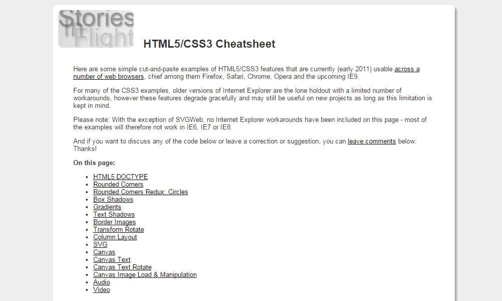 HTML5 CSS3 Cheatsheet