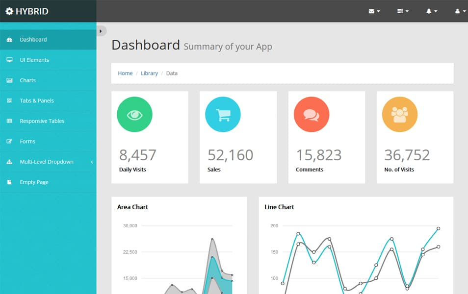 Hybrid Bootstrap Admin Template