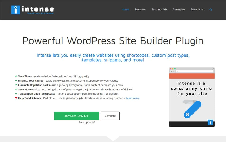 Intense WordPress Site Builder Plugin