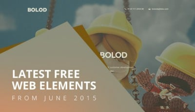 Latest Free Web Elements From June 2015