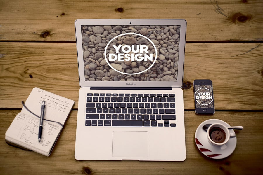 Macbook Air Free Mockup PSD