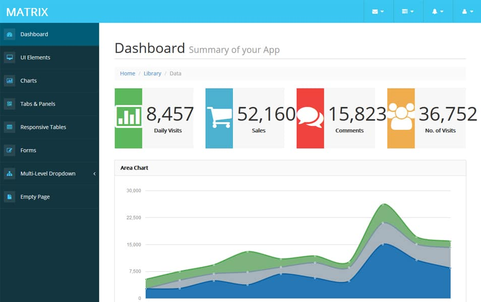 Matrix Bootstrap Admin Template