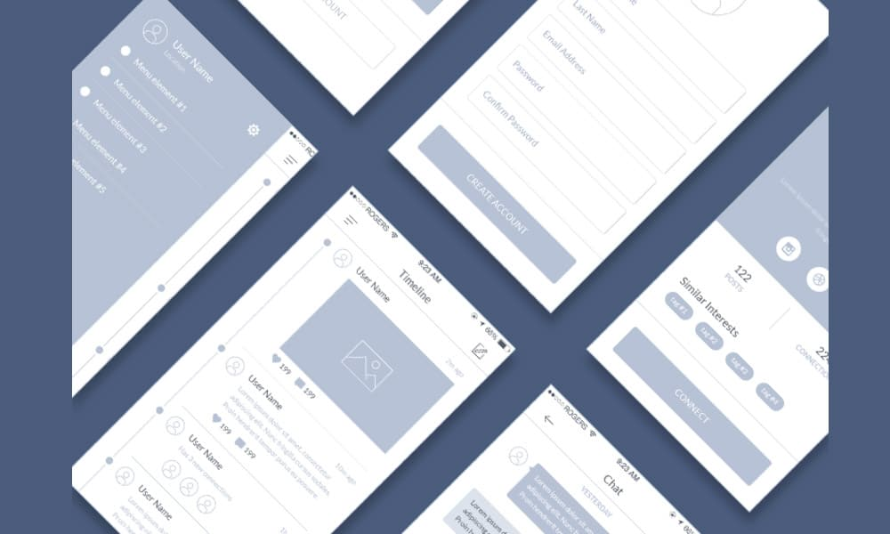 Mobile Wireframe