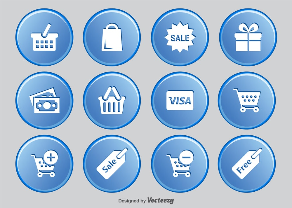 Shopping Button Icons