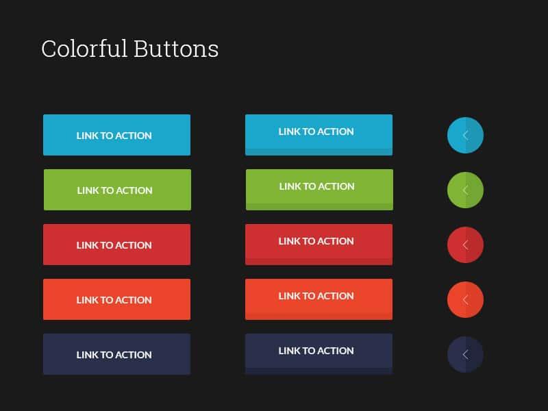 buttons ui psd