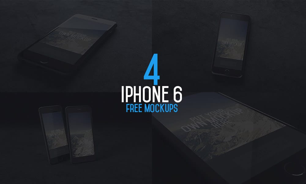 iPhone 6 Mockups PSD