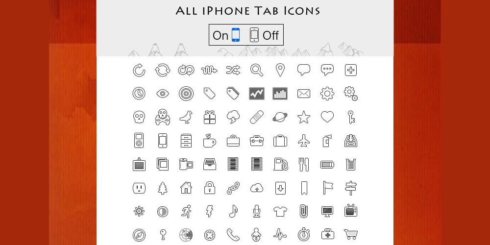 iphone Tab Icon PSD