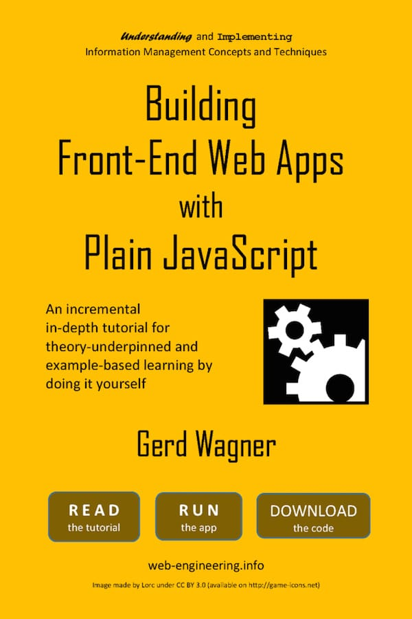 Book on Building Front-End Web Apps with Plain JavaScript