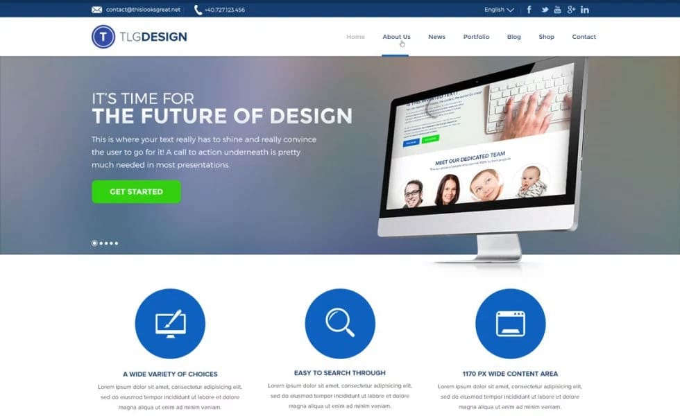Design Agency Free Homepage Layout