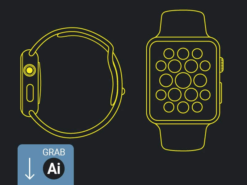 Free Apple Watch Line Mockup