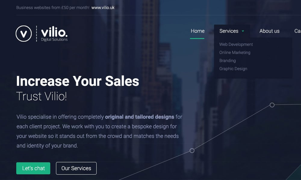 Free Digital Agency Web Template PSD