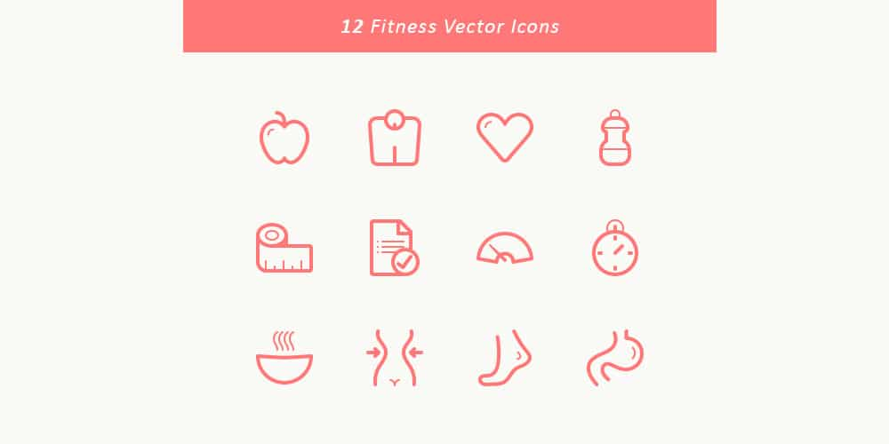 Free Fitness Vector Icons