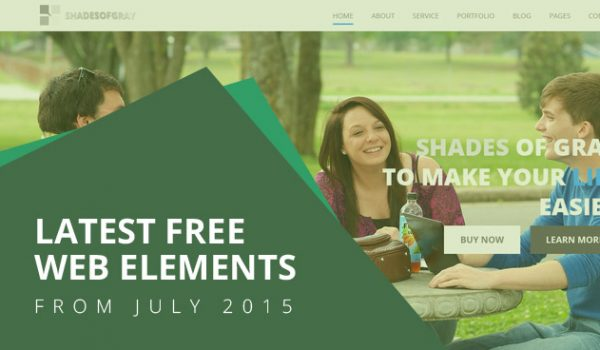 Latest Free Web Elements From July 2015