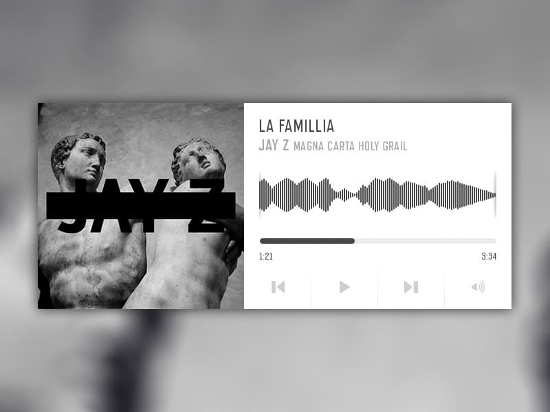 Music Player UI PSD