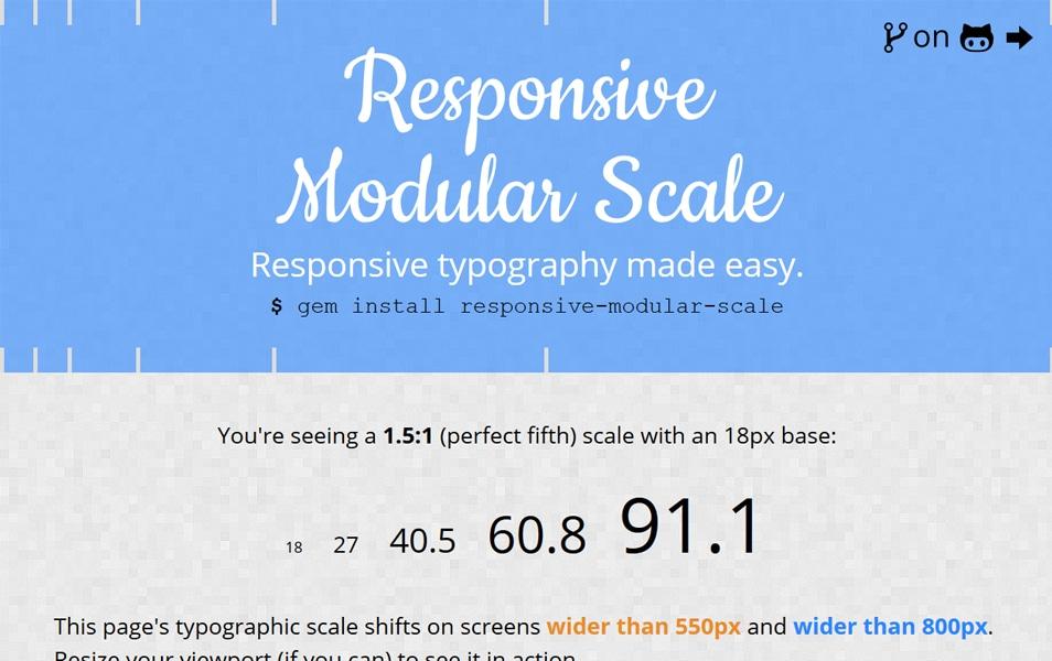 Responsive Modular Scale