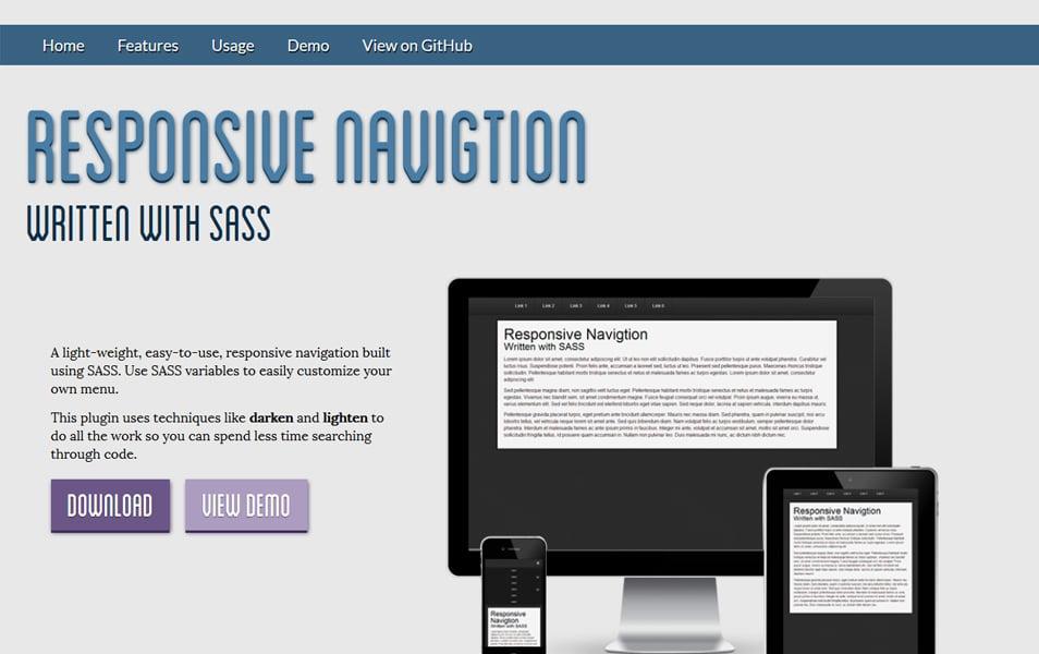 Responsive SASS Navigtion