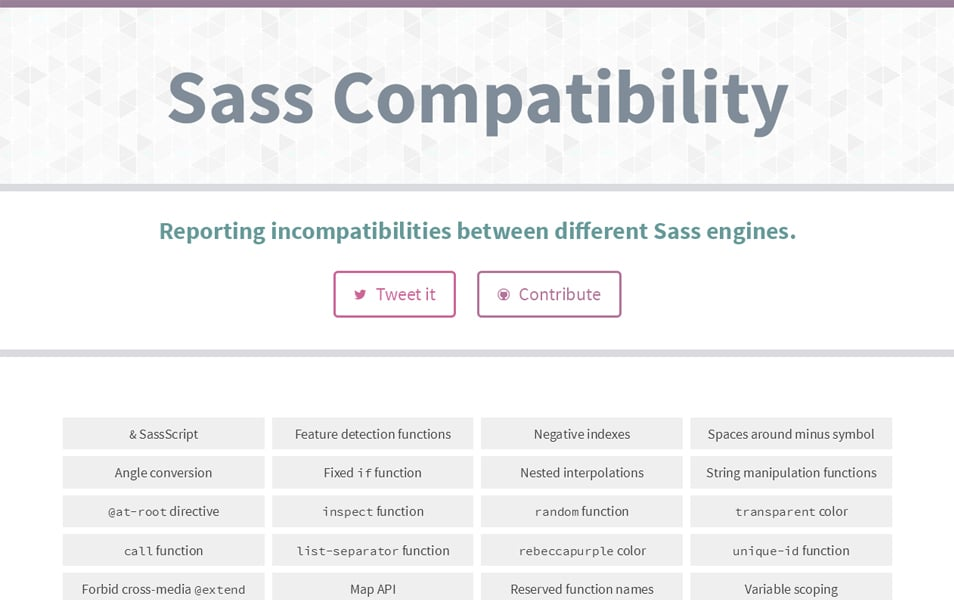 Sass Compatibility
