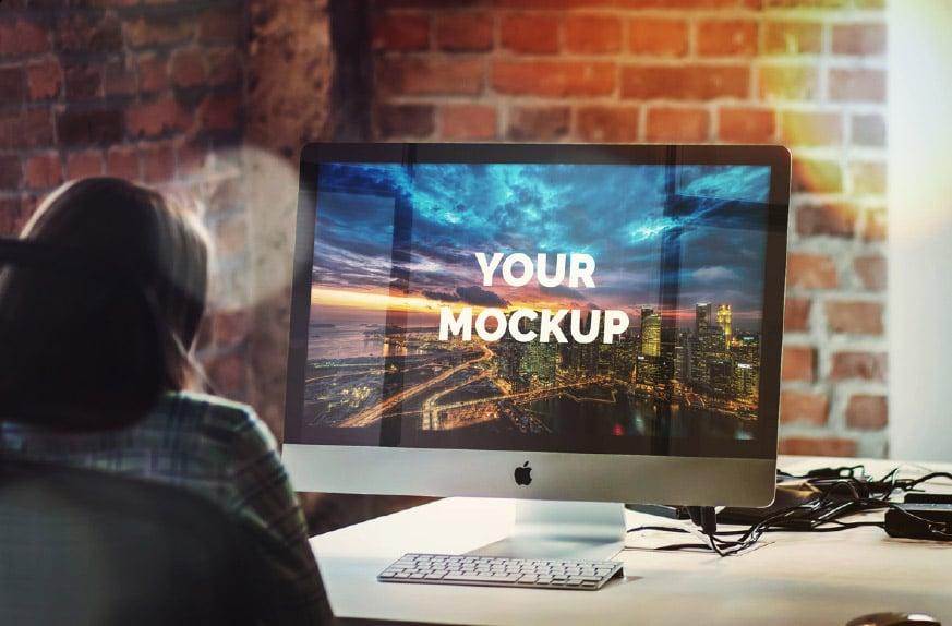 "iMac 27"" Office Mockup"