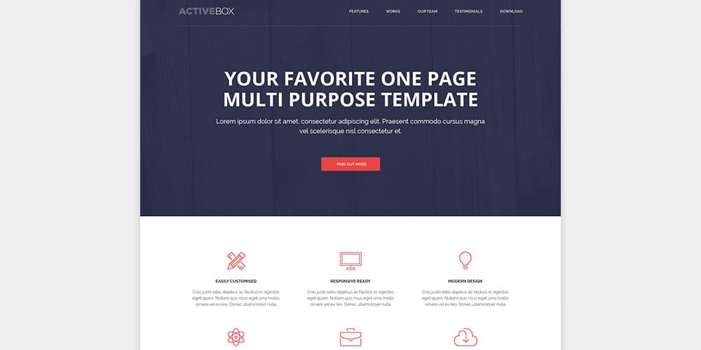ActiveBox HTML Template