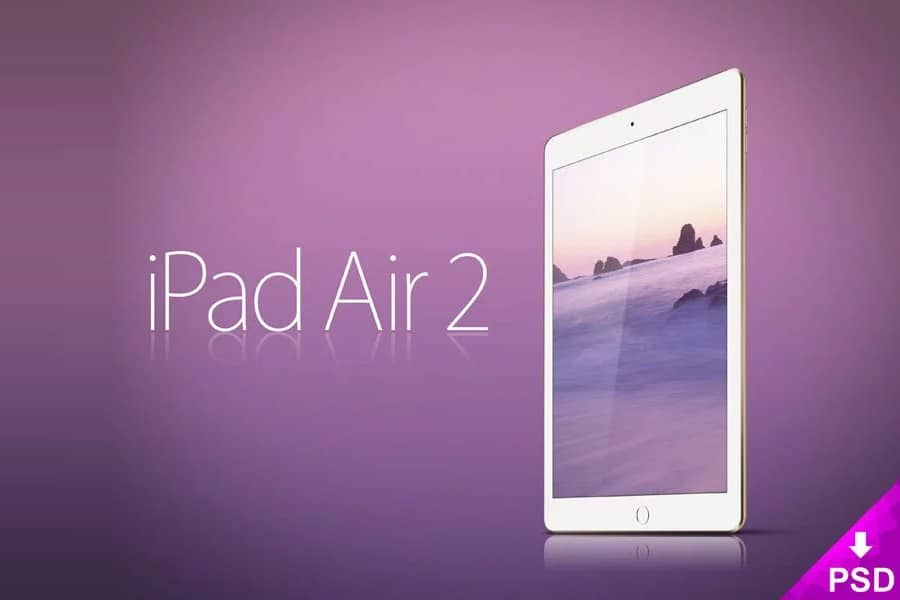 Apple iPad Air 2 Mockup PSD